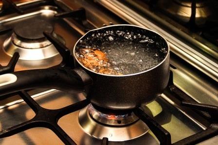очищение горячей водой